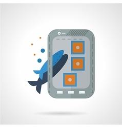 Fish photo shot flat icon vector