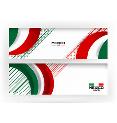 Flag of mexico banner background vector