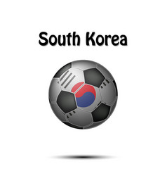 flag of south korea in the form of a soccer ball vector image