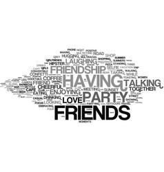 Friends word cloud concept vector
