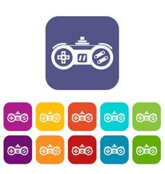 Gamepad icons set vector