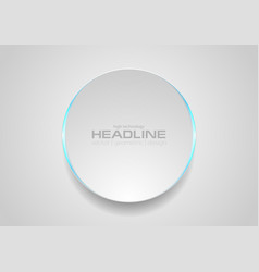 grey circle with blue light abstract tech vector image