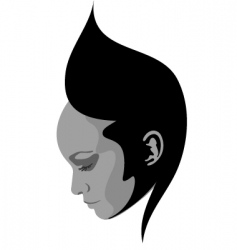 hairstyle face design vector image
