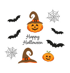 halloween composition with pumpkin vector image