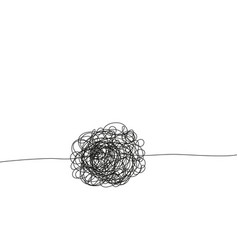 Hand drawing insane tangled scribble clew vector