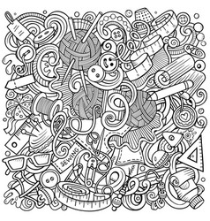 hand made hand drawn doodles vector image