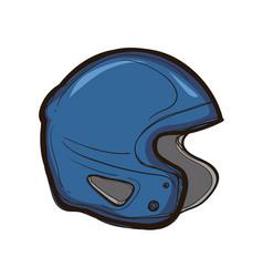 Hockey helmet isolated equipment for player vector
