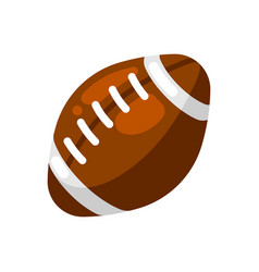 icon brown rugby ball in flat style vector image
