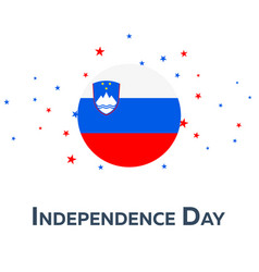 independence day of slovenia patriotic banner vector image