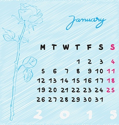 january 2015 flowers vector image