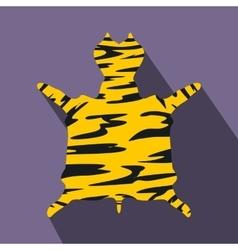 Leopard fur flat icon vector