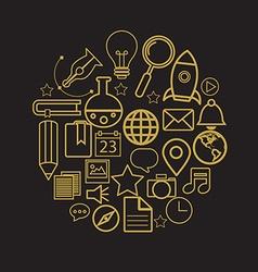 linear logo design template - online education vector image