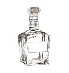 liquor bottle sketch icon vector image