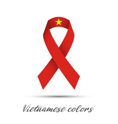 modern colored ribbon with the vietnamese colors vector image