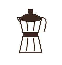 moka pot coffee maker isolated linear icon vector image