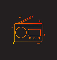 multimedia radio radio station retro technology vector image