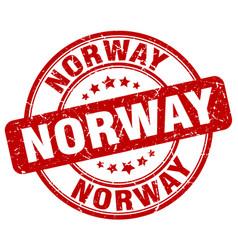 Norway red grunge round vintage rubber stamp vector