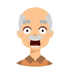 Old man scared vector image