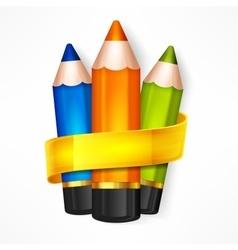 Pencil set Ribbon vector image vector image