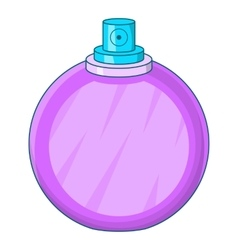 Perfume flacon icon cartoon style vector