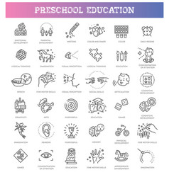 Preschool education kids development vector