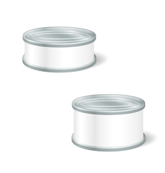 Realistic Blank Tins For Canned Food Preserve vector image