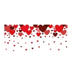 red hearts decoration vector image