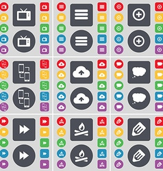 Retro TV Apps Plus Information exchange Cloud Chat vector image vector image