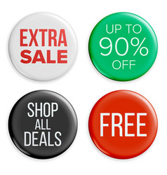 sale buttons sale bag tag icons shopping vector image