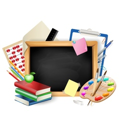 School blackboard background vector