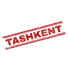Scratched textured tashkent stamp seal vector