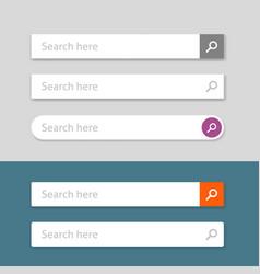 search bar element design set web vector image