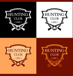 Set of logotypes for hunter club in the form of a vector