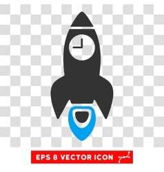 Space Rocket Time Eps Icon vector image