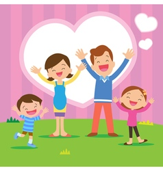 sweet home family happy vector image