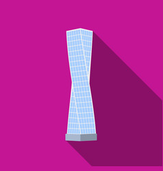 The shanghai tower icon in flat style isolated on vector