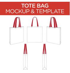 Tote bag - template mockup vector