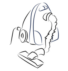 vacuum cleaner drawing on white background vector image