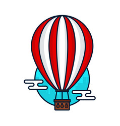 Vintage hot air balloon modern vector