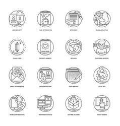 Web development line icons 2 vector