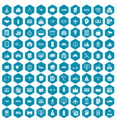 100 private property icons sapphirine violet vector image