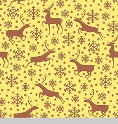 Deer pattern brown vector