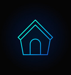dog house blue icon vector image