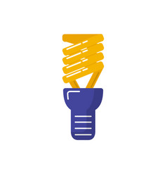 energy saving light bulb icon in flat style vector image