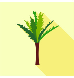 high palm tree icon flat style vector image vector image