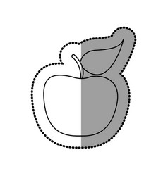 silhouette apple fruit icon stock vector image vector image