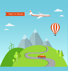 travel with landscape vector image