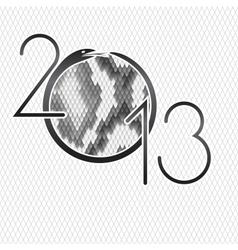 2013 design Python snake skin brown background vector image