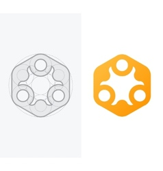 Abstract icon for company with process vector image vector image