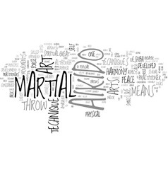 aikido arts martial text word cloud concept vector image vector image